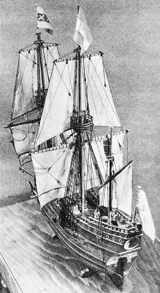 The D'Halve Maen, a model of Henry Hudson's ship