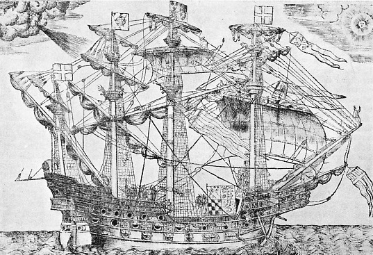 The Ark Royal, Lord Howard of Effingham's flagship against the Armada