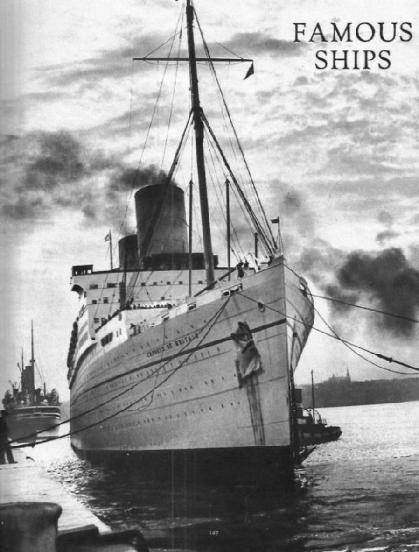 A magnificent study of the Canadian Pacific liner Empress of Britain
