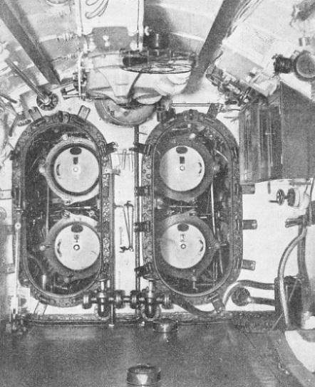 THE MAIN ARMAMENT of the submarine is her torpedoes