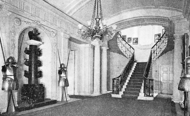 THE FINE STAIRCASE HALL in the First Lord's residence at the Admiralty