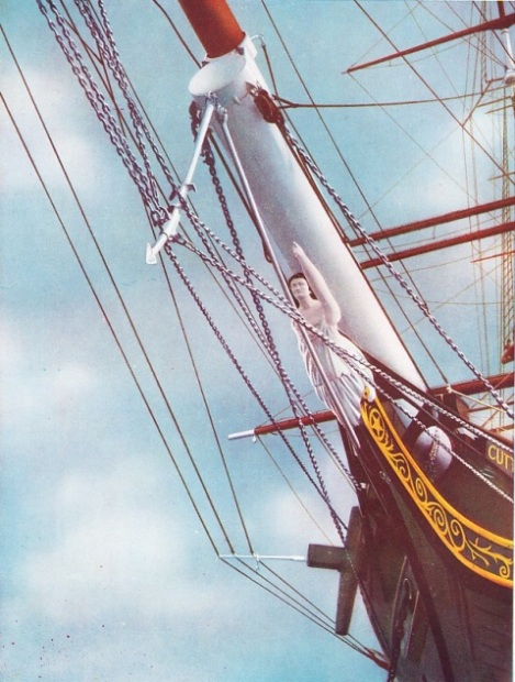 THE FIGUREHEAD OF THE FAMOUS CUTTY SARK