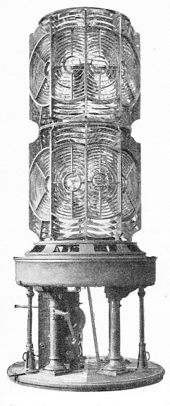 The 500 mm. (19·7-in.) focus sextuple flashing optical lighthouse apparatus