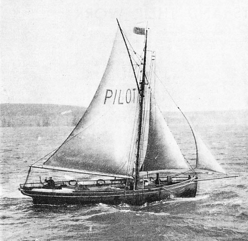THE WATERFORD PILOT CUTTER off Dunmore