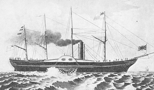 THE FIRST ATLANTIC RECORD was claimed by Brunel's steamer, the Great Western