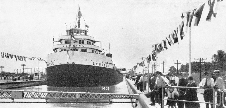 "The ""Lemoyne"" Performing the Opening Ceremony of the Welland Canal"