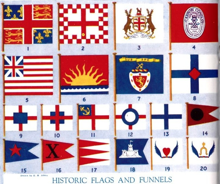 Historic flags and funnels