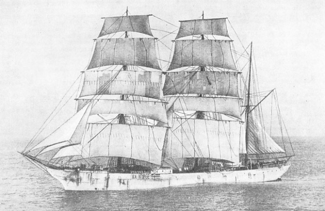 The barque Ba, formerly Glenafton.