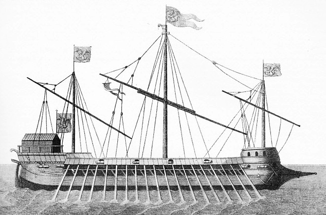 VENICE'S CONTRIBUTION to the Allied fleet comprised six great galleasses
