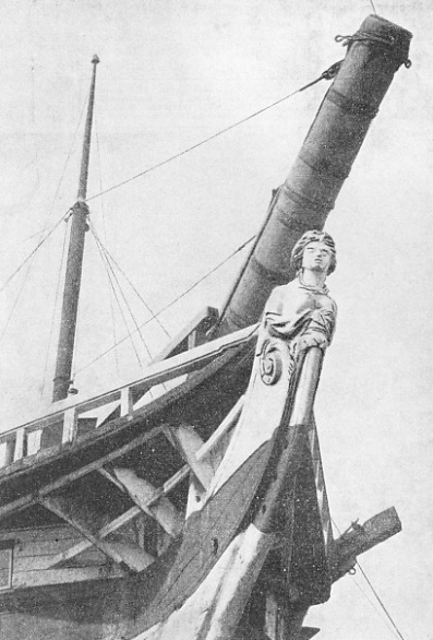 The figurehead of HMS Implacable