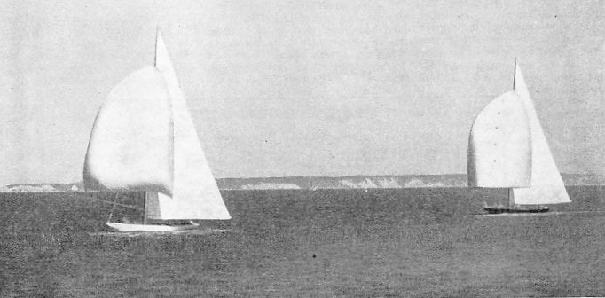 THE DECISIVE RACE in the America's Cup race of 1934