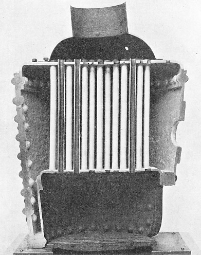 AN EARLY VERTICAL BOILER was patented in 1881 by G. Kingdon