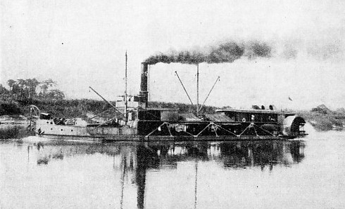 The Scarbrough is a typical stern-wheeler on the Niger