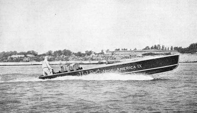Miss America IX being given her first test run in August, 1930