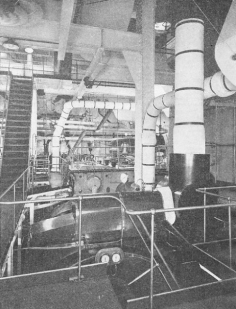 A LOW-PRESSURE TURBINE in the after engine-room of the Queen Mary