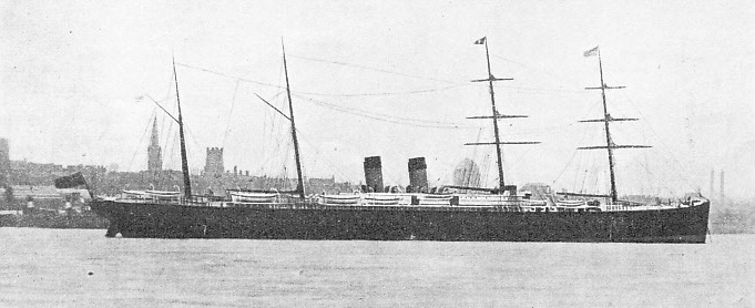 THE FIRST ATLANTIC LINER TO EXCEED 5,000 TONS was the White Star Liner Germanic