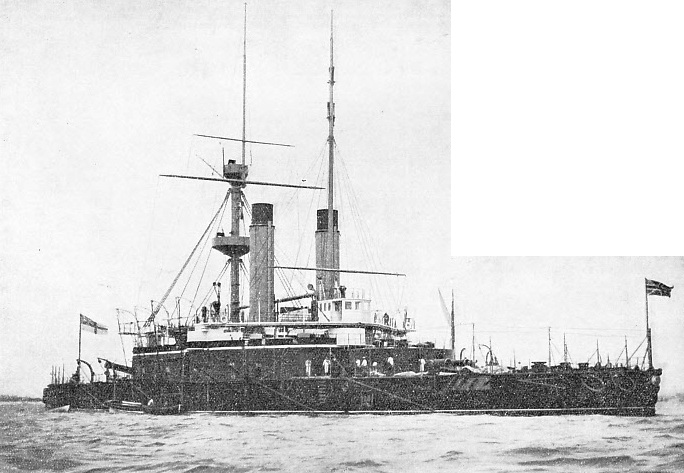 H.M.S. Nile, carried two sets of semaphores on her foremast