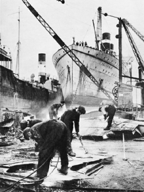 Shipbreaking at Bo'ness, West Lothain
