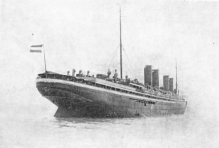 The Kaiser Wilhelm der Grosse, once held both Atlantic records with an average of 22·7 knots westward and 22·8 knots eastward