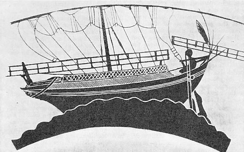 MERCHANT SHIP of about the same period as the galley illustrated above