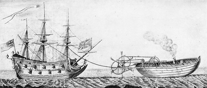 A TUG-BOAT DESIGN OF 1736, proposed by Jonathan Hulls