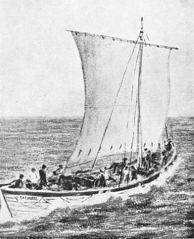 NO. 1 BOAT OF THE TREVESSA UNDER SAIL