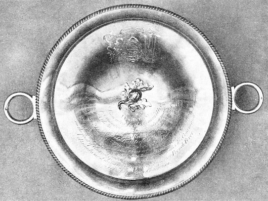 A SILVER DISH GIVEN TO NELSON after the battle of the Nile