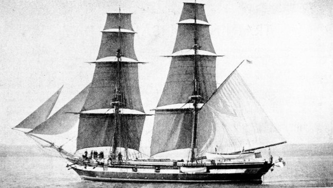 H.M.S. MARTIN was used as a training brig