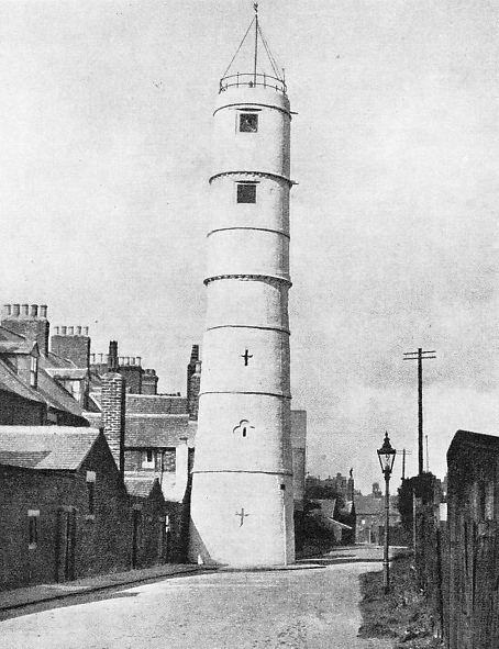 The unusual position of a lighthouse at Blyth, Northumberland