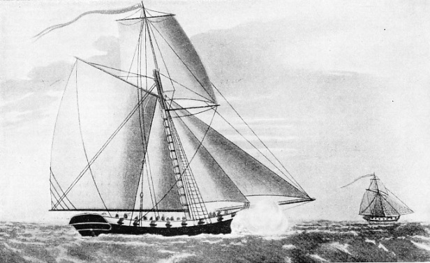 "The revenue cutter ""Greyhound"""
