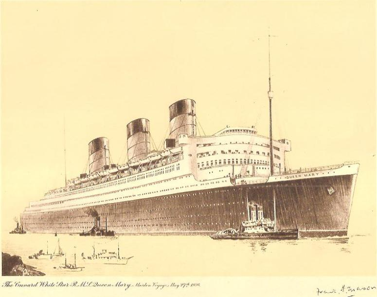 RMS Queen Mary by Frank Mason