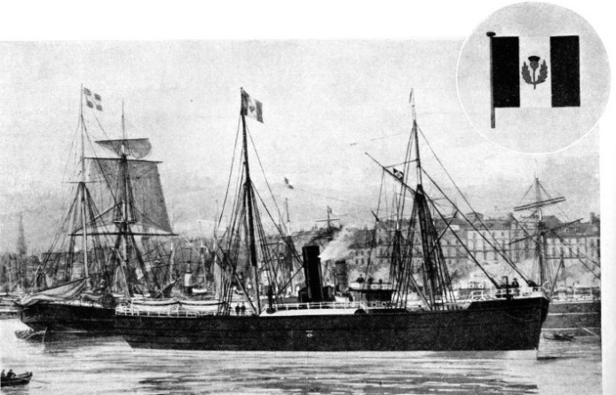 The SS Niobe that belonged to the J. and P. Hutchison Line at Bordeaux