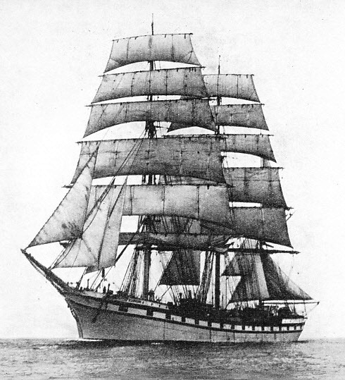 WITH 236 PRISONERS ON BOARD the French three-masted barque Cambronne, captured by von Luckner in the South Atlantic, was sailed to Rio de Janeiro under the command of Captain J. Mullen