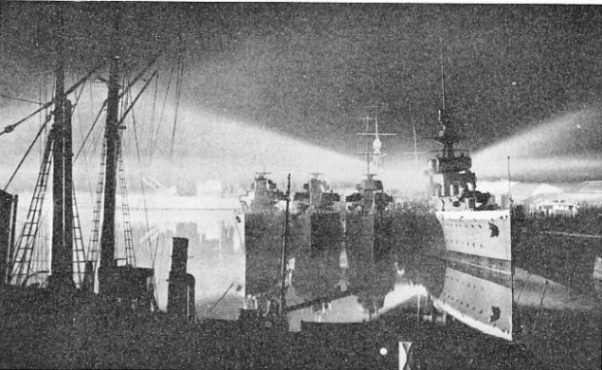 A searchlight display at Chatham