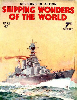 shipping wonders of the world cover part 47 HMS Hood