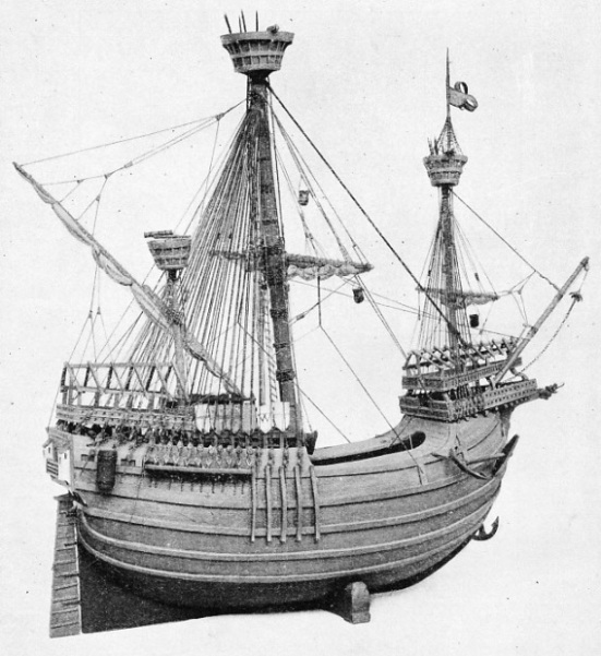 A RIGGED MODEL OF A FIFTEENTH CENTURY FLEMISH CARRACK