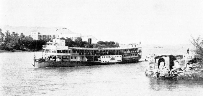 A TYPICAL PADDLE-WHEELER on the Nile - the Sudan