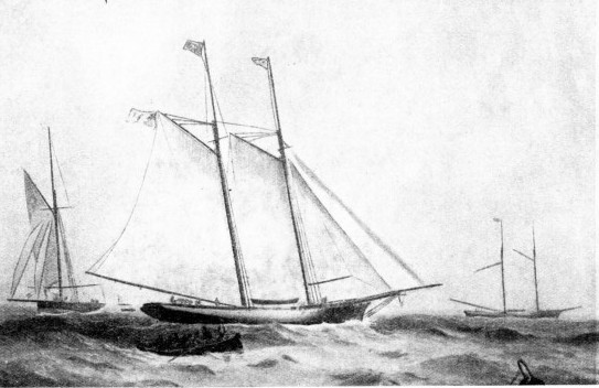 A RACE ACROSS THE ATLANTIC developed when the Dauntless met the Cambria