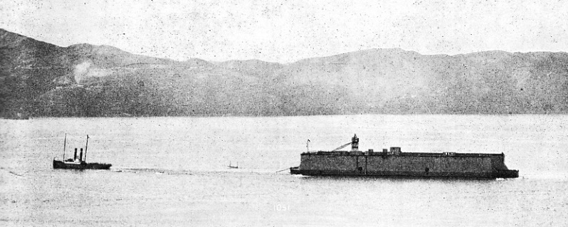 END OF A 12,000-MILES TOW at the entrance to the harbour of Wellington, New Zealand