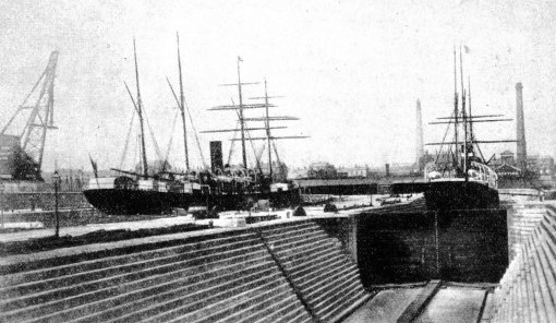 Liverpool ship-repairing docks about 1883