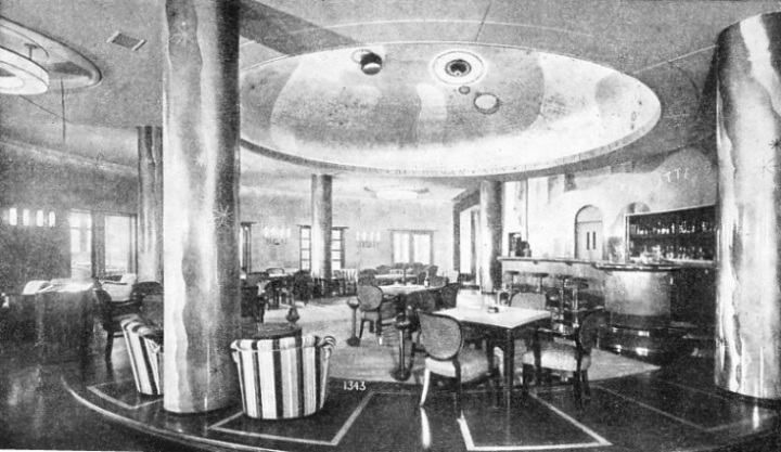 THE CLUB ROOM on the social deck of the Conte di Savoia