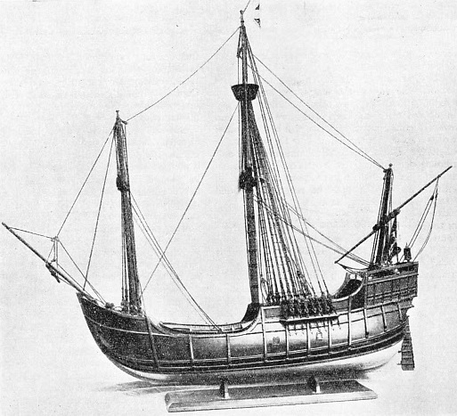 THE SANTA MARIA, a model of Christopher Columbus's famous ship