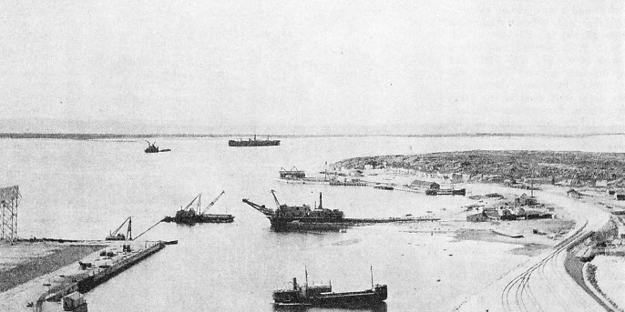 The harbour of Churchill in 1933