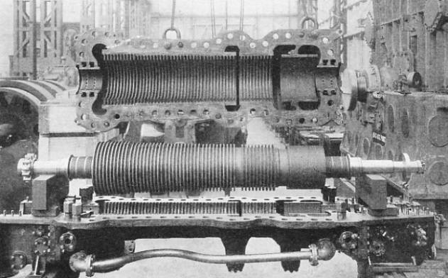 A marine steam turbine