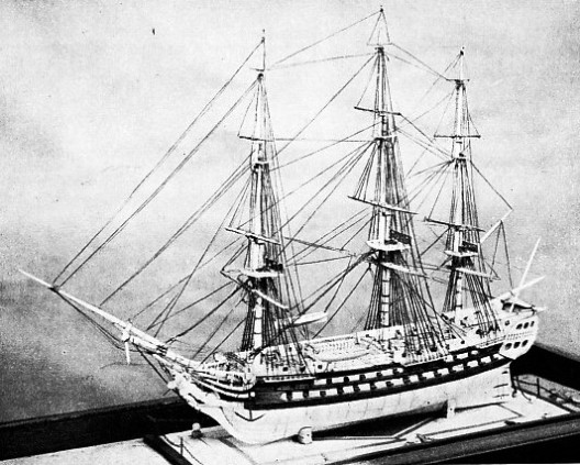 Model of the Temeraire, built at Toulon in 1749