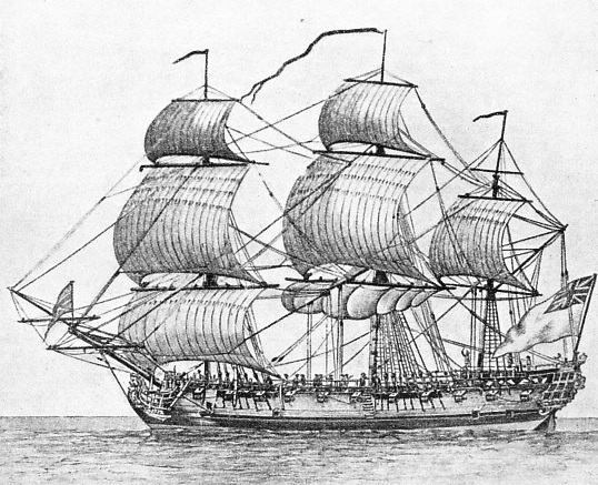 AN EAST INDIAMAN of the type described in this chapter was the Falmouth