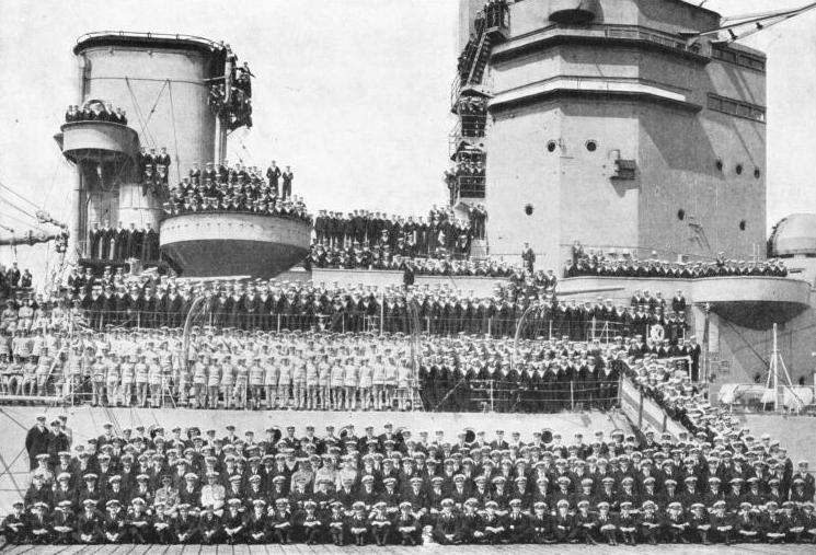 The officers and ship's company of H.M.S. Nelson