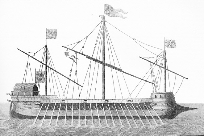 Venetian galleass as used at the Battle of Lepanto