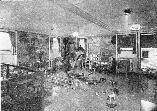 Children's playroom in the United States liner Washington
