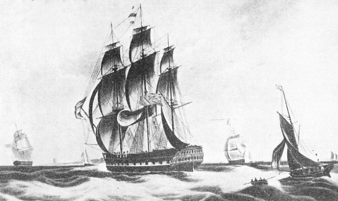 CHARTERED TO THE EAST INDIA COMPANY, the Macqueen remained in this service for about thirteen years